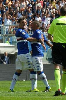 Video gol e pagelle, Sampdoria-Torino 2-0: Gabbiadini-Okaka in rete