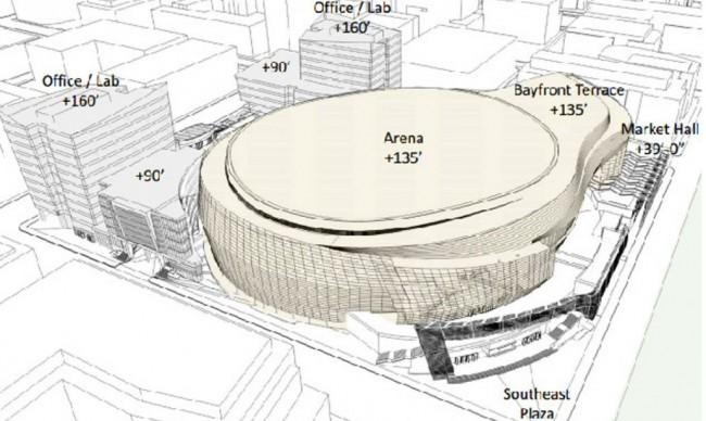 Golden State Warriors, la nuova arena sarà a forma di wc