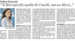 """Sabina Guzzanti sul Fatto Quotidiano: """"Il Ros agì alle spalle di Caselli"""""""