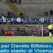 """""""Giustizia per Davide Bifolco"""": lo striscione dei tifosi del Latina FOTO"""