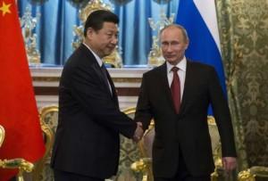 Xi Jinping e Vladimir Putin (Foto Lapresse)