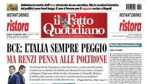 """Marco Travaglio sul Fatto Quotidiano: """"Partito Smemocratico"""""""