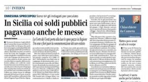 In Sicilia coi soldi pubblici pagavano anche le messe. Emanuele Fontana, Il Giornale