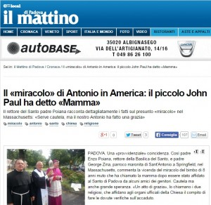 L'articolo del Mattino di Padova