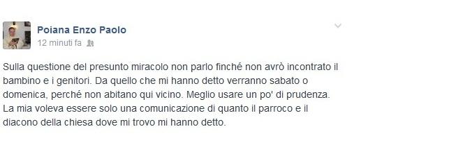 Il post di Padre Enzo Poiana
