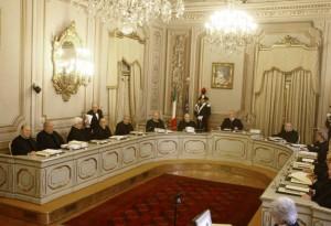 I giudici della Corte Costituzionale (LaPresse)