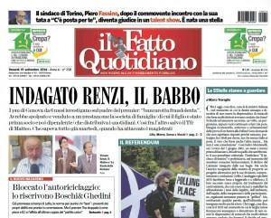 La bancarotta di casa Renzi. Davide Vecchi, Il Fatto Quotidiano