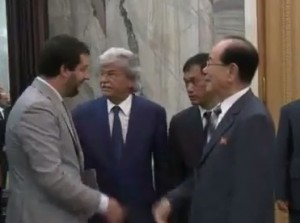 Antonio Razzi e Matteo Salvini in Corea del Nord
