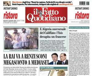 """Marco Travaglio sul Fatto Quotidiano: """"Questo matrimonio s'ha da fare"""""""
