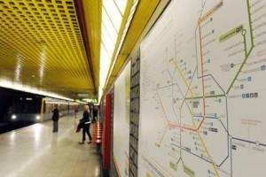 La metro di Milano (foto Ansa)
