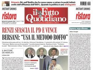 """Marco Travaglio sul Fatto Quotidiano: """"Ignoro, ergo riformo"""""""