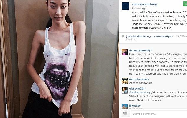 Stella McCartney posta foto di modella troppo magra: il web l'accusa FOTO
