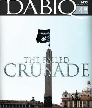 Isis: foto della bandiera nera su San Pietro sulla rivista Dabiq