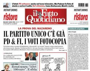 Marco Travaglio e l'editoriale sul Fatto Quotidiano