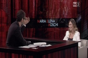 "Maria Elena Boschi a Fabio Fazio: ""Preferisco Fanfani a Berlinguer, da aretina"" VIDEO"