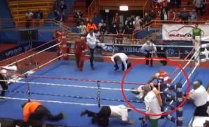 Pugile riempe di botte arbitro perché sconfitto per ko tecnico VIDEO