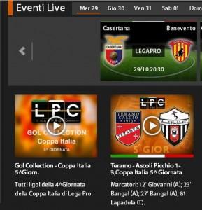 Casertana-Benevento: diretta streaming su Sportube.tv, ecco come vederla