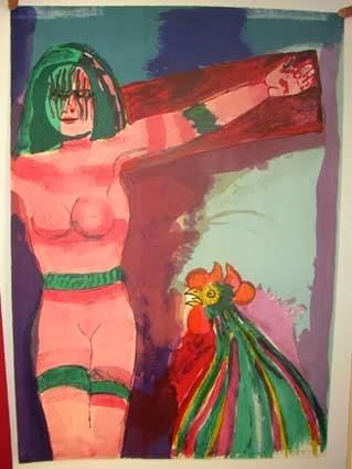 Mario Borghezio gira il quadro con la Vergine nuda: era appeso nei corridoi della Ue
