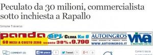 """Rapallo, commercialista accusato di peculato: """"30mln finiti nei paradisi fiscali"""""""