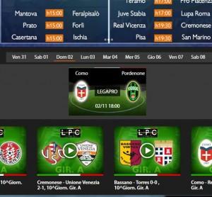 Como-Pordenone: diretta streaming su Sportube.tv, ecco come vederla