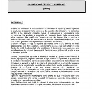 Costituzione di internet Rodotà-Boldrini: ecco i 14 articoli (scarica il pdf)