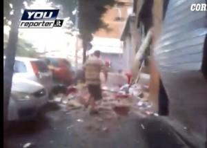 Roma, Torpignattara: esplode pizzeria in via Luparelli. Due feriti VIDEO