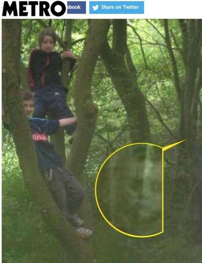 La foto con il fantasma di bambino scattata nel bosco inglese FOTO