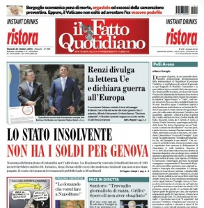 """Marco Travaglio sul Fatto Quotidiano: """"Polli Arena"""""""