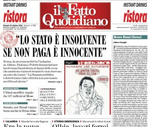 """Marco Travaglio sul Fatto Quotidiano: """"Bravo Renzi (forse)"""""""
