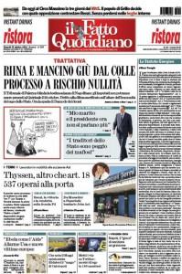 """Marco Travaglio sul Fatto Quotidiano: """"Lo Statuto Giorgino"""""""