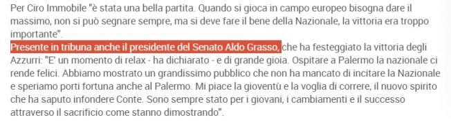 """Italia-Azerbaigian, """"in tribuna presidente Senato Aldo Grasso"""": gaffe Figc FOTO"""