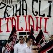 Forza Nuova in piazza a Napoli contro l'immigazione, tensione con polizia