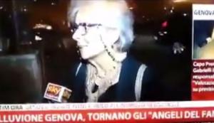 """L'alluvione di Genova, per la signora la colpa è """"di chi bestemmia in strada"""""""
