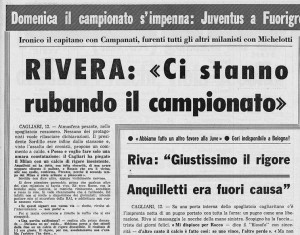 Gianni Rivera contro la Juve: Totti ha ragione sugli arbitri. Ma era un finto Rivera
