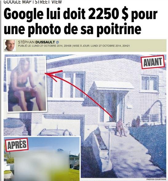 Maria Pia Grillo a seno scoperto su Street View. Google deve risarcirla con 2250$