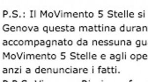 """M5s: """"A Genova Grillo senza body guard"""". Ma nel video l'ex comico arriva e dà indicazioni"""