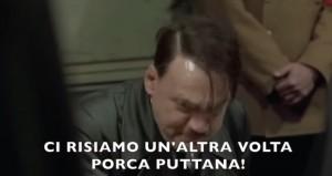 """Hitler viene a sapere di Juve-Roma: """"Se arbitrava Lapo era meglio"""" VIDEO parodia"""
