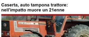 Alife (Caserta), Pierluigi Simonelli muore dopo incidente sul trattore