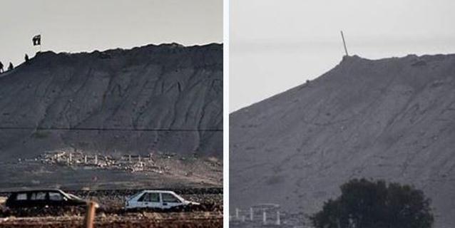 Isis, curdi rimuovono bandiera nera da collina sopra Kobane