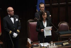 Laura boldrini regina in parlamento ritratto al for Rassegna stampa parlamento