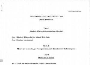 Legge di Stabilità: scarica il testo integrale della bozza in PDF