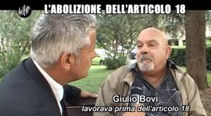 Le Iene, Enrico Lucci e l'abolizione dell'articolo 18 VIDEO
