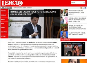 "Lercio, satira su Renzi: ""Si potrà licenziare con un semplice tweet"""