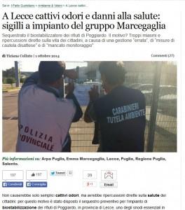 """Marcegaglia: sequestrato """"biostabilizzatore"""" di rifiuti a Poggiardo (Lecce)"""
