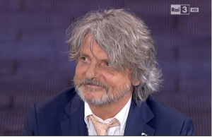 """Massimo Ferrero show da Fabio Fazio: """"Inno Sampdoria? E' vecchio, lo cambio"""""""