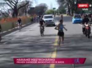 Argentina, Mastromarino vince maratona: scambiato per un intruso durante la corsa