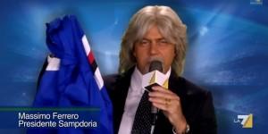 Sampdoria. Massimo Ferrero replica a imitazione Maurizio Crozza (FOTO)