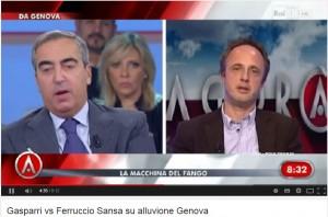 Maurizio Gasparri contro Ferruccio Sansa del Fatto Quotidiano: scontro ad Agorà