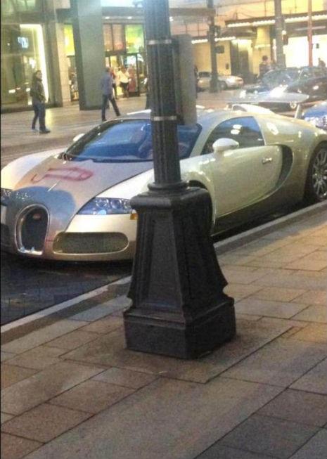 Pene enorme disegnato sulla Bugatti da 200mila euro: la foto