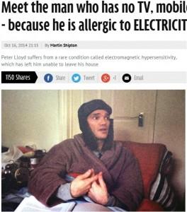 Peter lloyd allergico a elettricit costretto in casa - Elettricita in casa ...